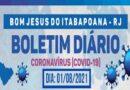 Boletim Coronavírus (Covid-19) – 01 de agosto de 2021