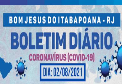 Boletim Coronavírus (Covid-19) – 02 de agosto de 2021