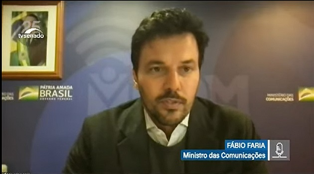 Senado recebe Fábio Faria para tratar de internet em escolas públicas