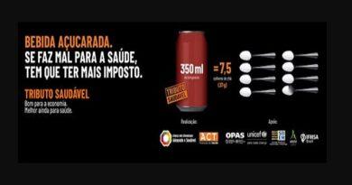 Campanha pede cobrança de mais impostos sobre bebidas açucaradas