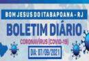 Boletim Coronavírus (Covid-19) – 07 de setembro de 2021